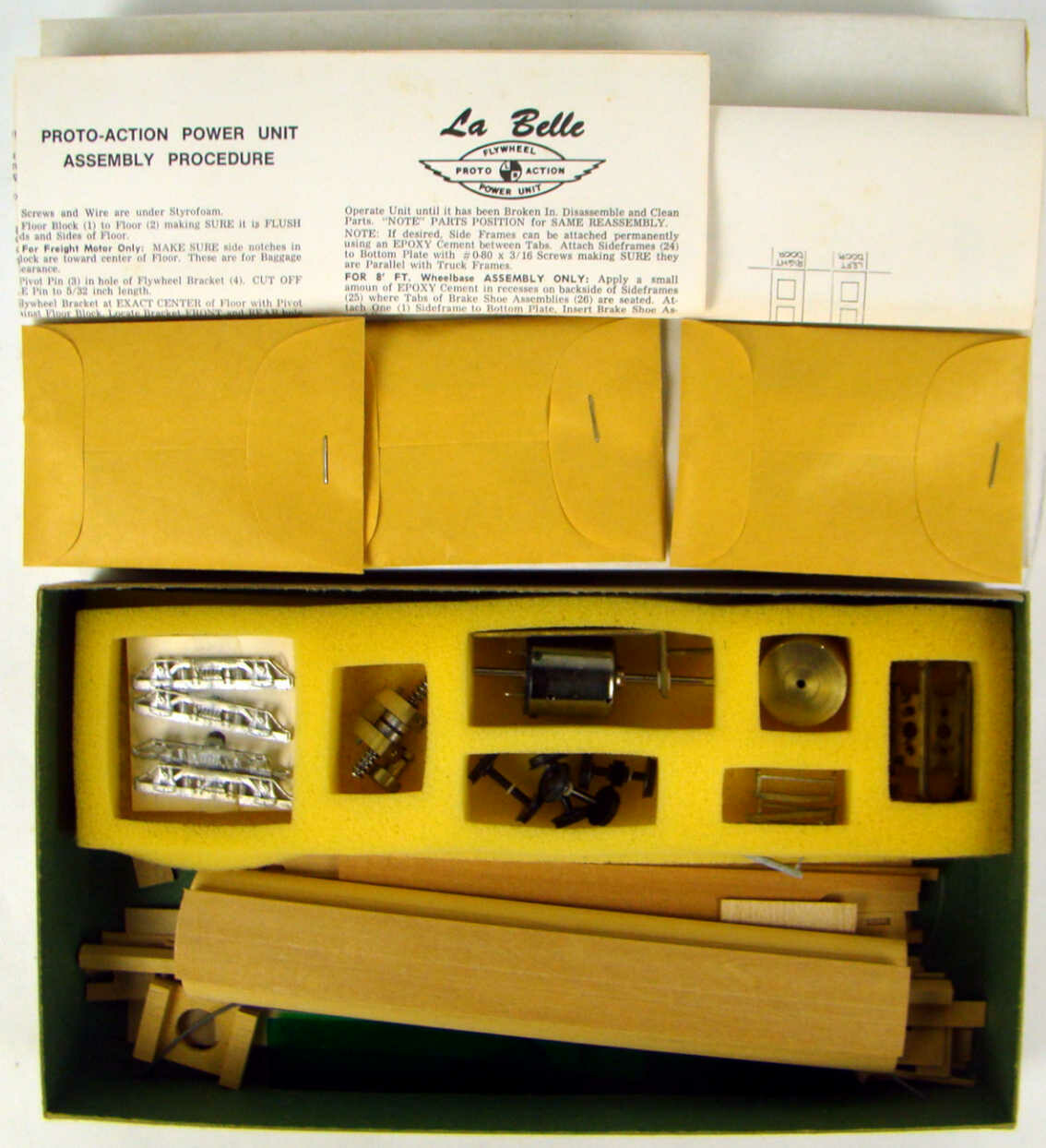 """LaBelle HO-85 Limited Run """"Once Only"""" Powered D&RGW Gasoline Rail Motor Car Kit HO Scale"""