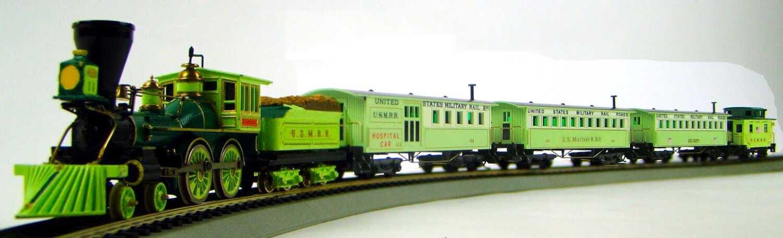 MRRHQ USMRR Custom 4-Car Civil War Hospital Train Set #1 HO Scale