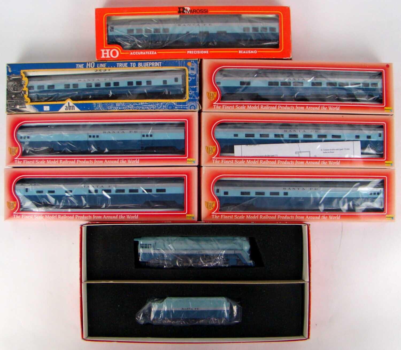 "Ultimate AHM-IHC-Rivarossi Santa Fe ""Blue Goose"" Seven-Coach Passenger Set"