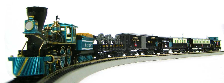 MRRHQ North Carolina Railroad CSA Custom 5-Car Civil War Train Set #3 w/Cannons HO Scale