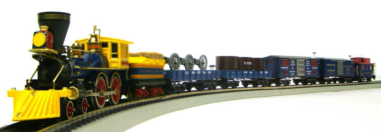 MRRHQ B&O USMRR Custom 5-Car Civil War Freight Train Set #4 w/Cannons HO Scale
