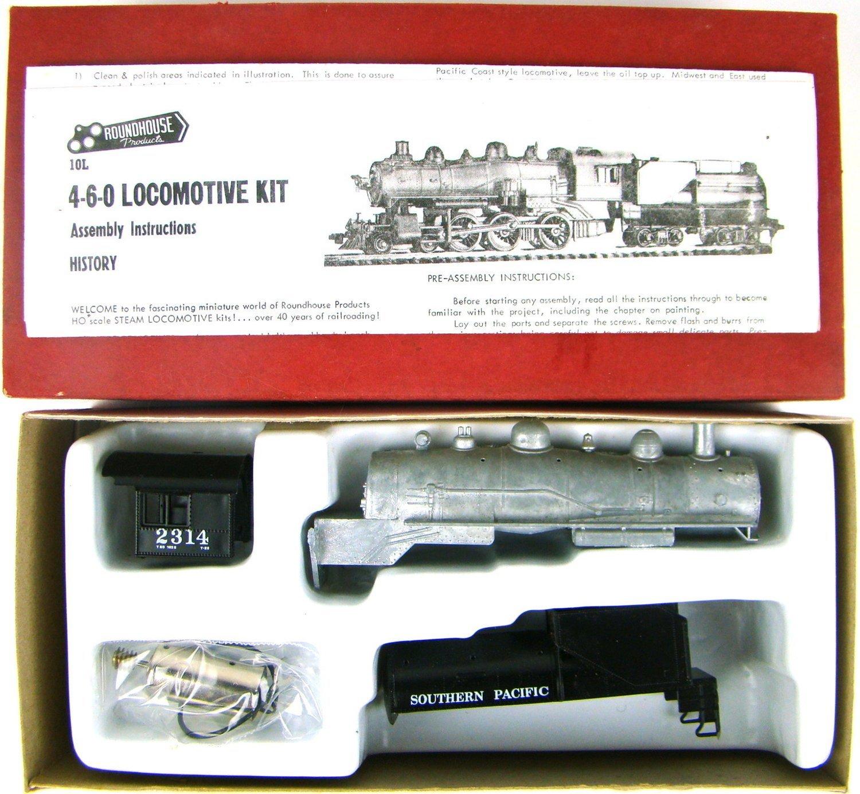 Roundhouse 456 SP Harriman 4-6-0 Ten Wheeler Kit w/Can Motor HO Scale