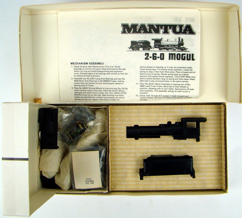 Mantua 513 Undecorated 2-6-0 Mogul Locomotive Kit HO Scale