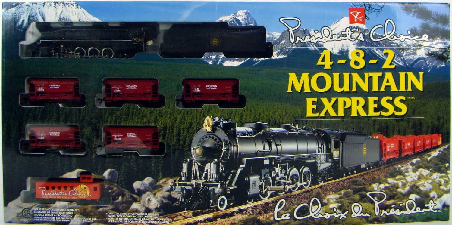 1997 President's Choice 4-8-2 Mountain Express Limited Edition Train Set HO Scale