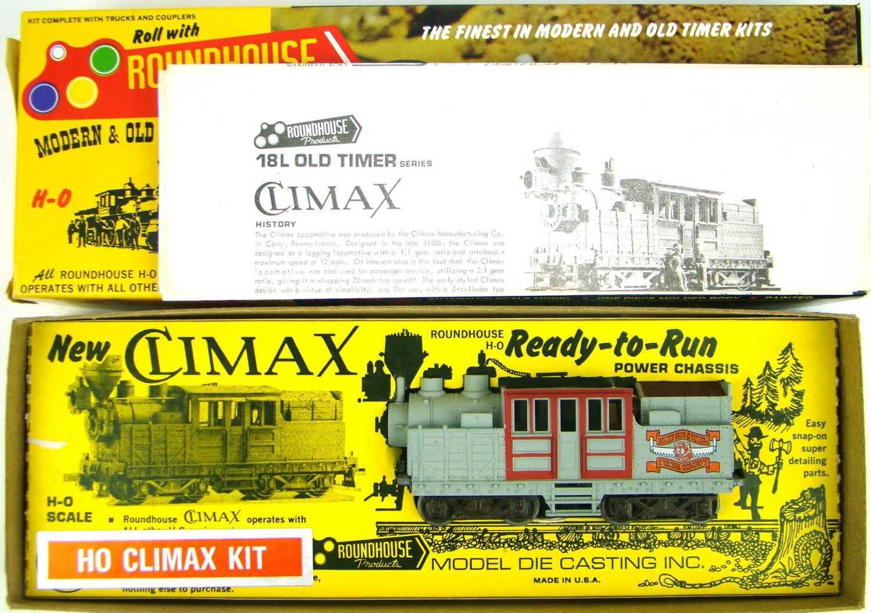 Roundhouse 2796 White Pass & Yukon Climax Locomotive Kit HO Scale