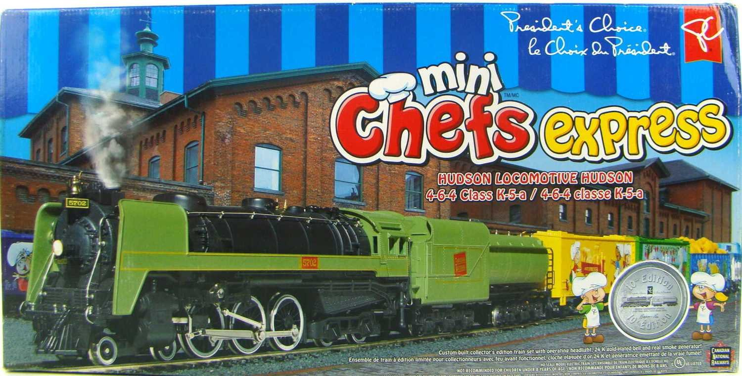 FACTORY SEALED 2004 President's Choice 4-6-4 Mini-Chef's Express Limited Edition Train Set HO Scale