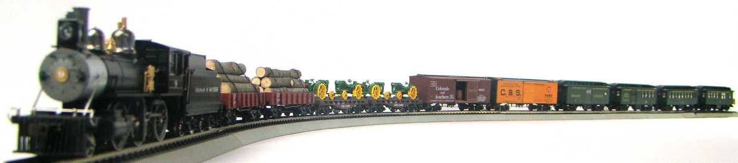 MRRHQ Custom Colorado & Southern Early 1900s Mixed Freight & Passenger Set HO Scale