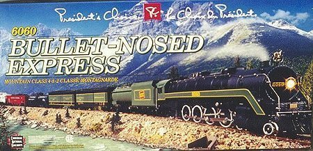 "2001 President's Choice CN 4-8-2 Class UI-F​ #6060 ""Bullet-Nosed Express"" Limited Edition Train Set HO Scale"