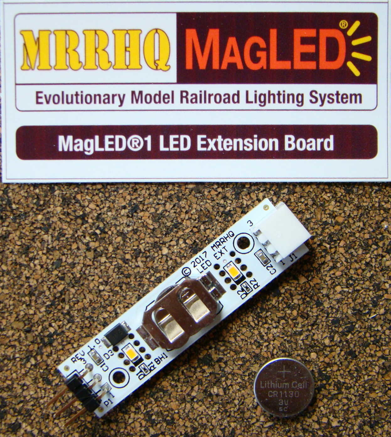 MRRHQ MagLED® MLX1 Evolutionary Model Railroad Lighting System LED Extension Board