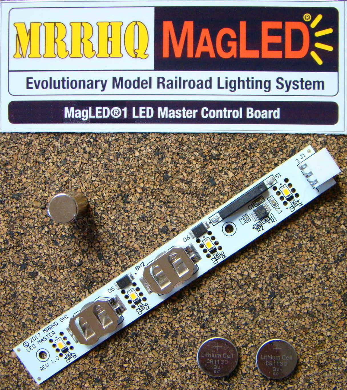 MRRHQ MagLED® MLM1 Evolutionary Model Railroad Lighting System LED Master Control Board w/Magnet