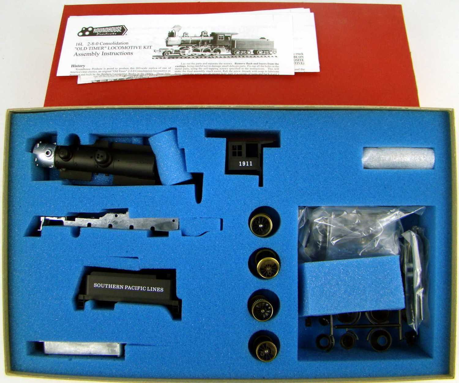 Roundhouse 481 SP Harriman 2-8-0 Consolidation Kit w/Flywheel Motor HO Scale