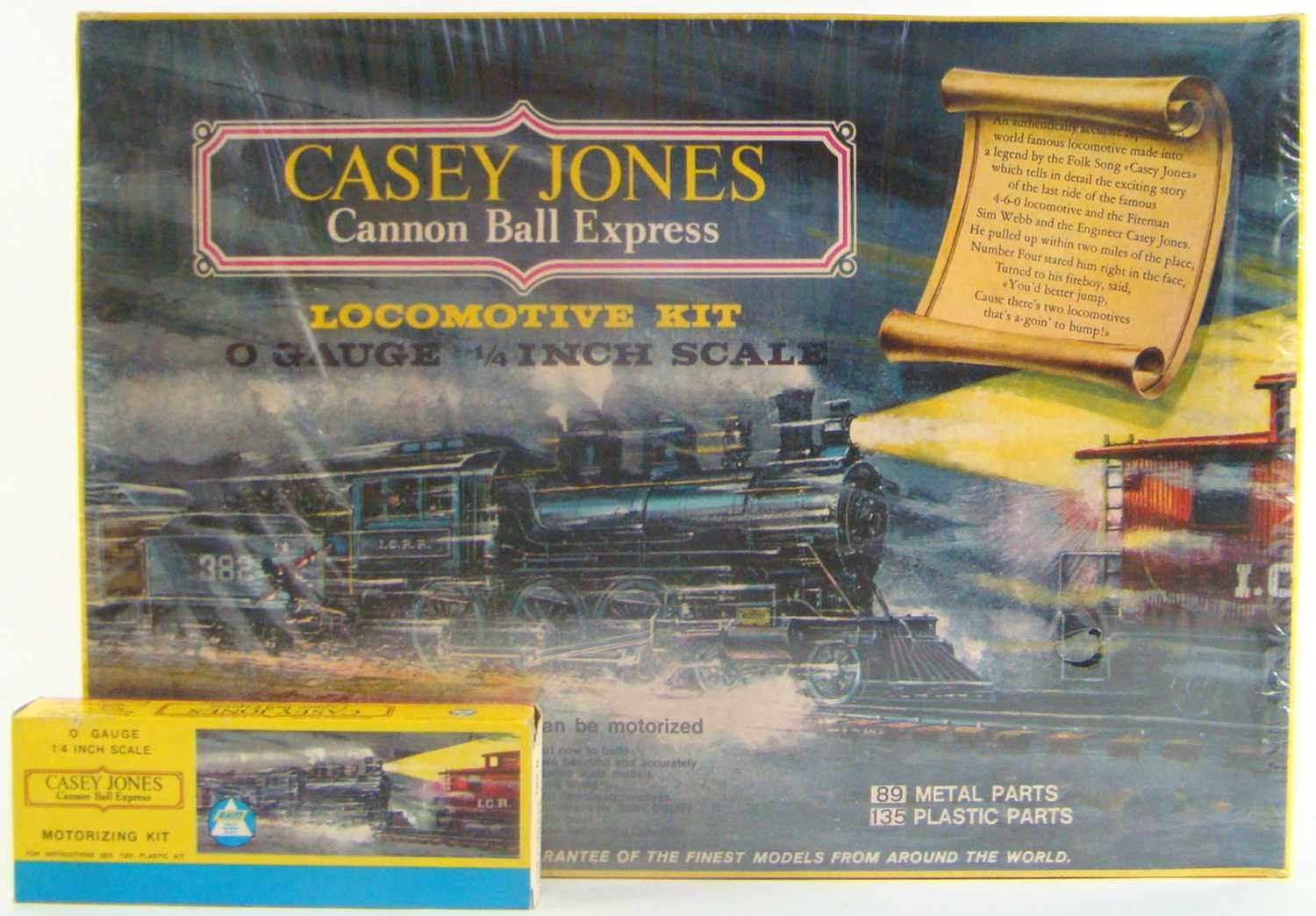 "FACTORY SEALED AHM 7201 Casey Jones ""Cannonball Express"" Kit w/7201M Motorizing Kit O Scale"