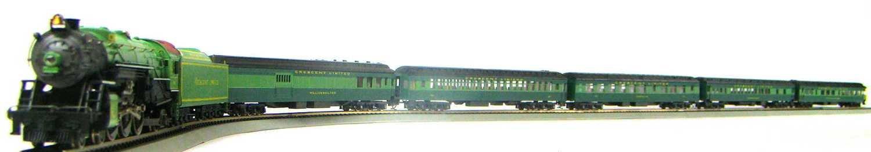 AHM 5-Coach Southern Crescent Limited Set w/Class PS-4 4-6-2 Locomotive #1396 HO Scale
