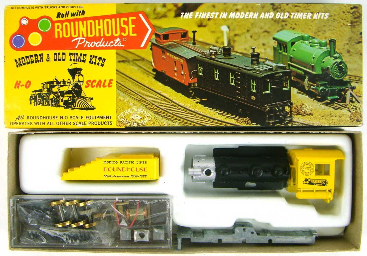 """Roundhouse 317 1938-1988 50th Anniversary """"Long Boiler"""" 0-6-0 Switcher Kit HO Scale"""
