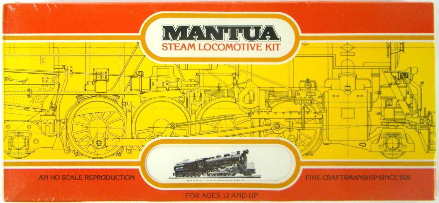 FACTORY SEALED Mantua 319 MKII Super Detailed 2-8-0 Consolidation Locomotive Kit HO Scale