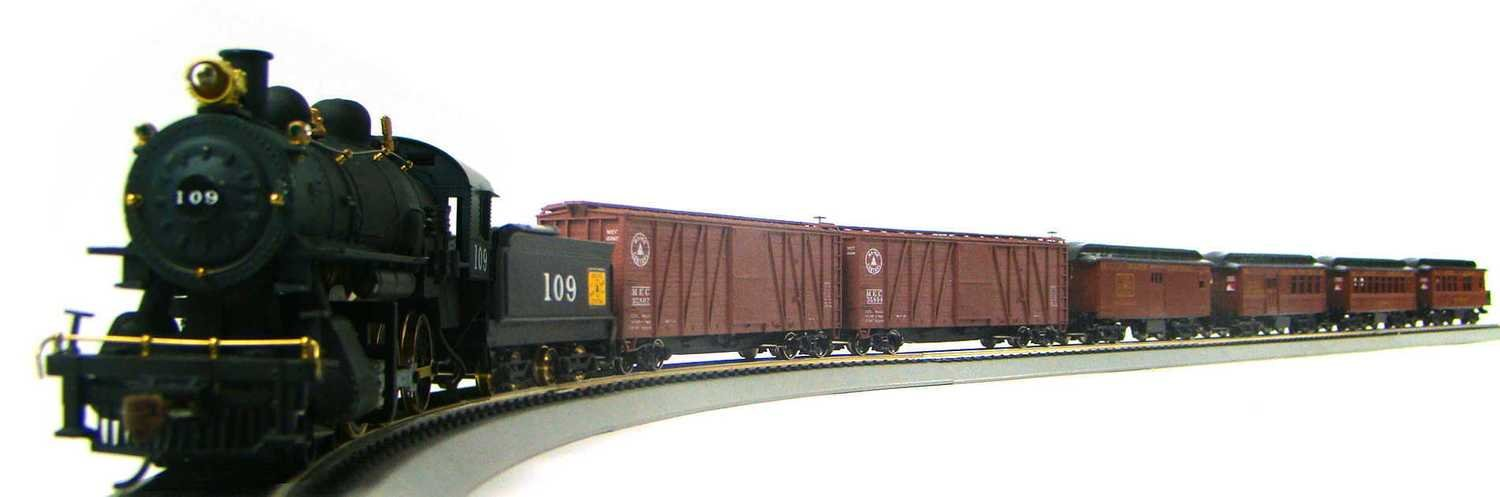 MRRHQ 1920s Maine Central Mixed Freight & Passenger Set w/Custom Replica G Class 4-6-0 #109 HO Scale