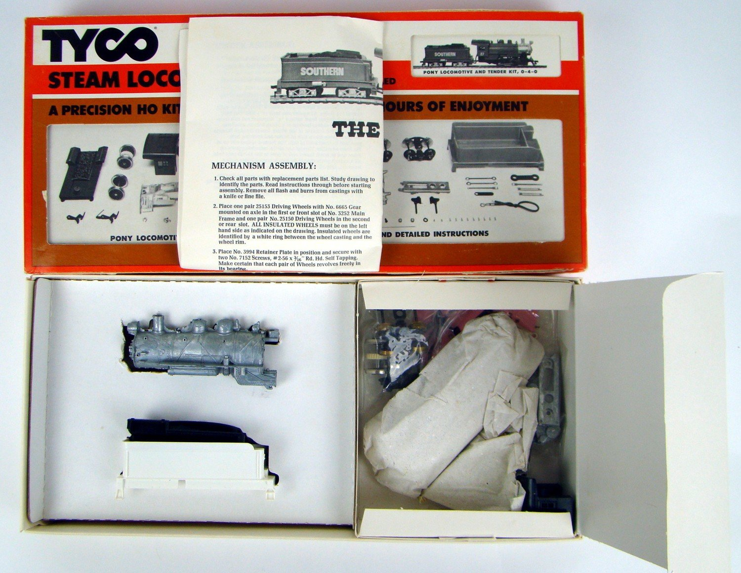 Tyco 7710 0-4-0 Pony Switcher Kit HO Scale