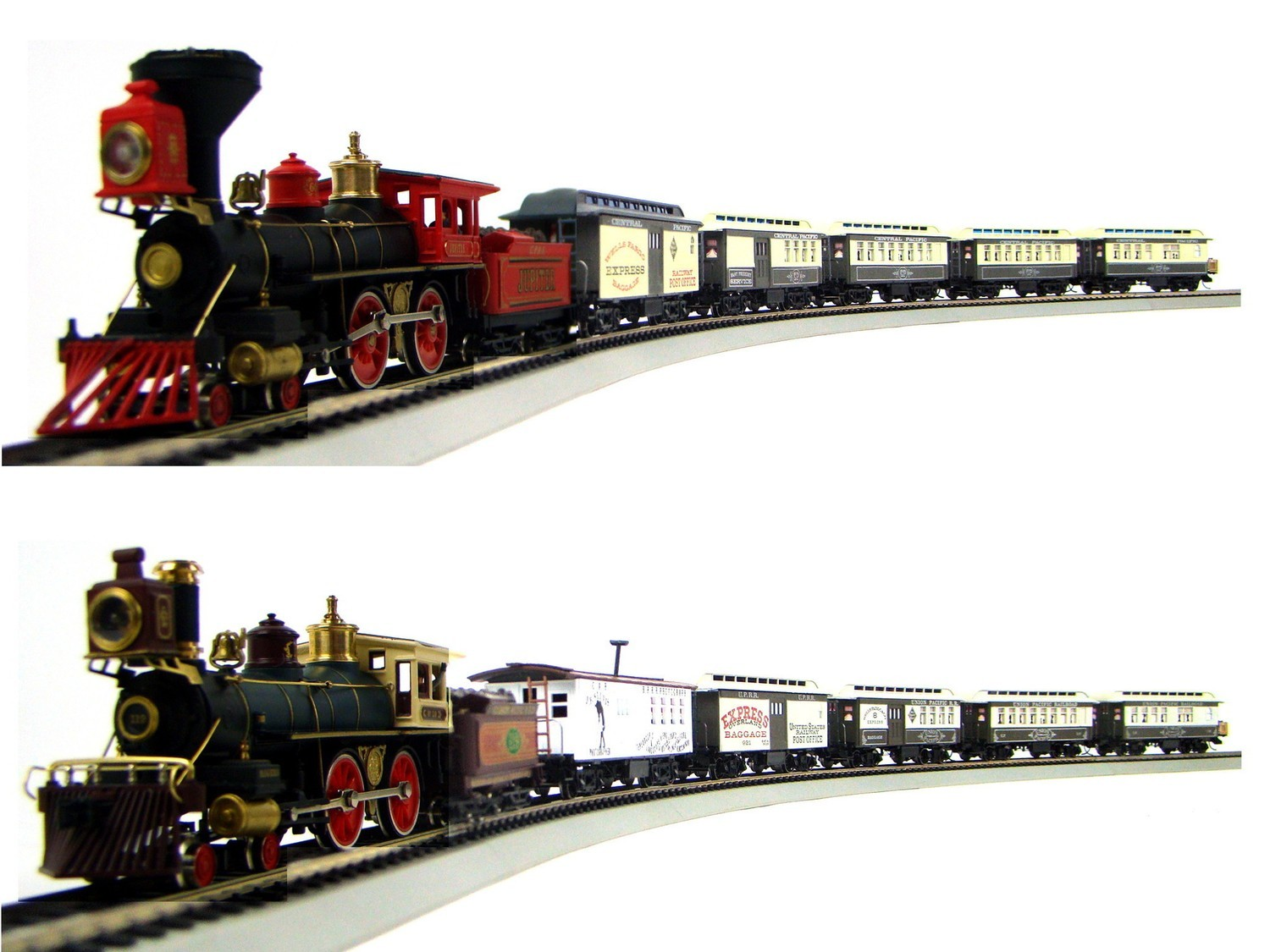 "MRRHQ Custom Limited Edition GS1 IHC/Roundhouse 1860s CP&UP ""Golden Spike"" Dual Passenger Trains Set"