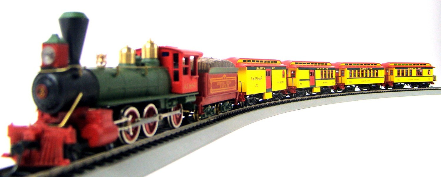 MRRHQ Custom Limited Edition Tyco/Roundhouse 84301 Series 1890s AT&SF Overton Passenger Train Set