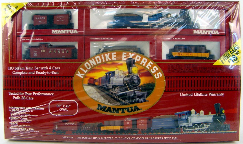 Mantua 91158 Klondike Express 1860s Boxed Freight Train Set Factory Sealed
