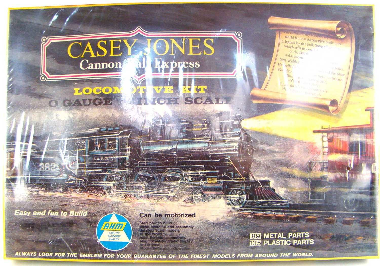 "FACTORY SEALED AHM 7201 Casey Jones 4-6-0 ""Cannonball Express"" Locomotive Kit O Scale"
