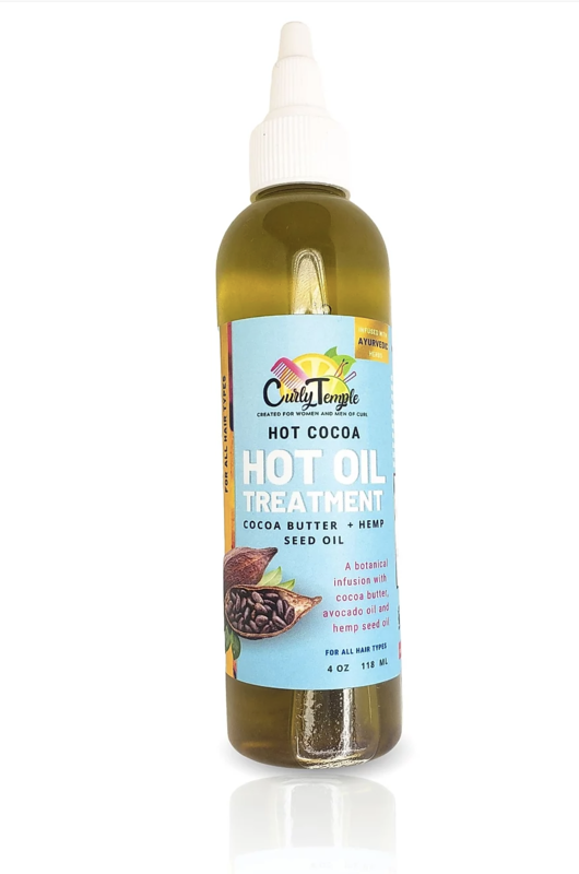 Curly Temple Hot Cocoa Oil Treatment
