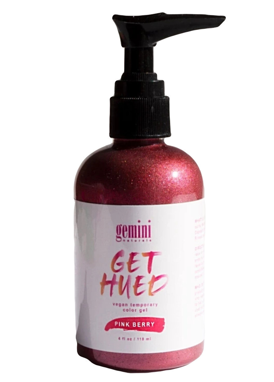 Gemini Naturals Get Hued Vegan Temporary Color Gel - Pink Berry