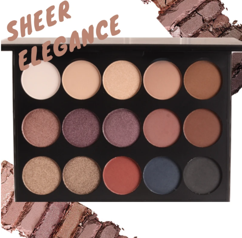 Fixate Cosmetics Sheer Elegance 15 Shade Eye Shadow Palette