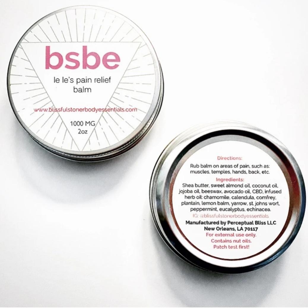 Pre-Order: BSBE LeLe's Pain Relief Rub' CBD Balm
