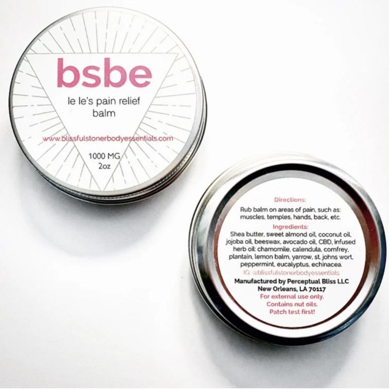 BSBE LeLe's Pain Relief Rub' CBD Balm
