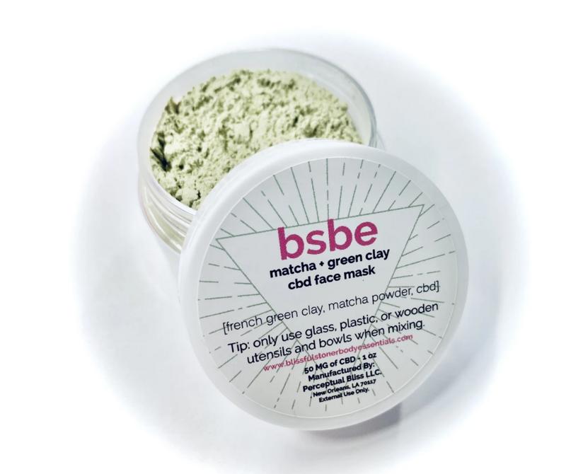 NEW! BSBE Matcha + Green Clay CBD Facial Mask