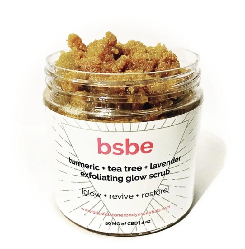 BSBE 'Turmeric + Tea Tree + Lavender' Exfoliating Glow CBD Scrub