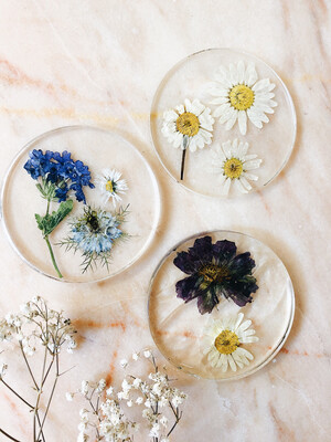 3 Bloemen onderzetters
