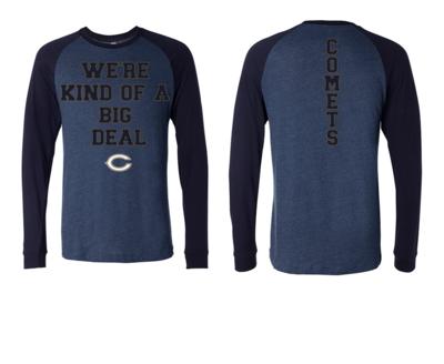 Blue Comet Long Sleeve Baseball T (Big Deal)