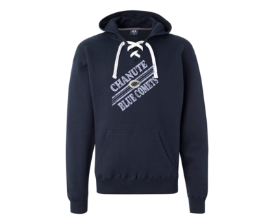 Blue Comet Lace-Up Sweatshirt