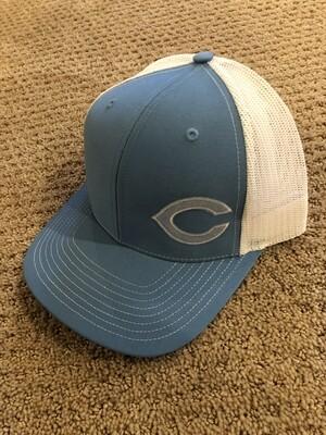 Blue Comet Snapback Hat