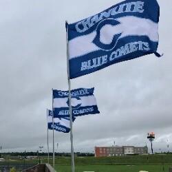 Chanute Blue Comets - Flag