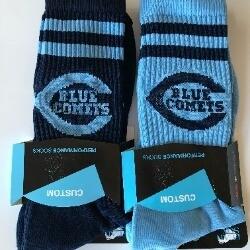 Blue Comets Socks