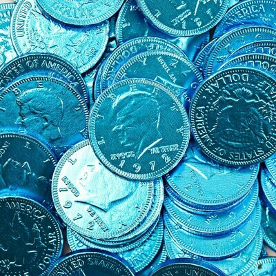 Blue Coins 90ct