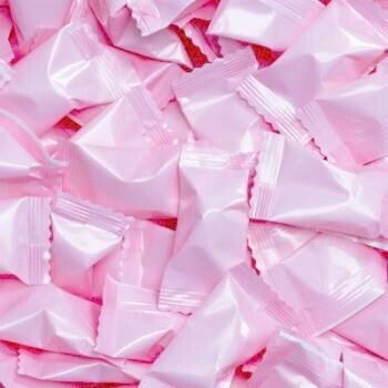 Buttermints Wrapped Light Pink 1 lb