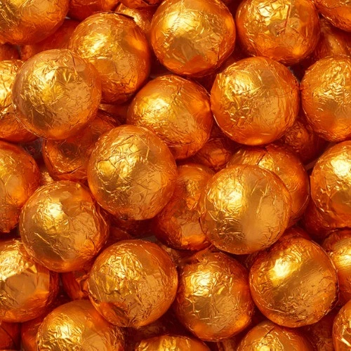 Choc Caramel Ball Orange 2.5lb