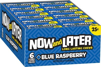 Now & Later 25¢ Blue Raspberry 24ct