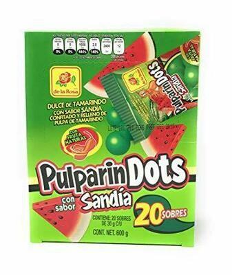 Pulparindo Dots Sandia 20ct