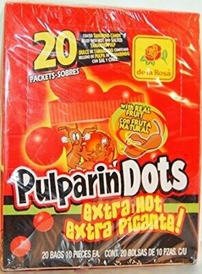 Pulparindo Dots Hot 20ct