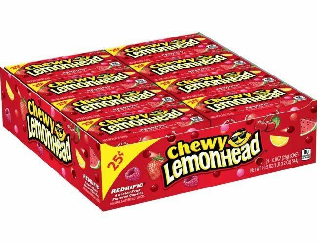 Lemonhead Chewy Redrific Small 24ct