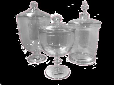 3 Piece Plastic Jar Set