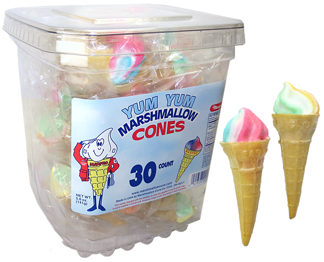 Marshmallow Cones 30ct