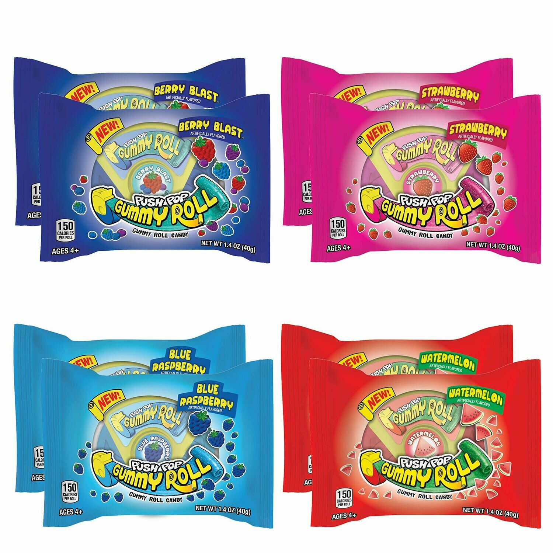 Push Pop Gummy Roll 1ct