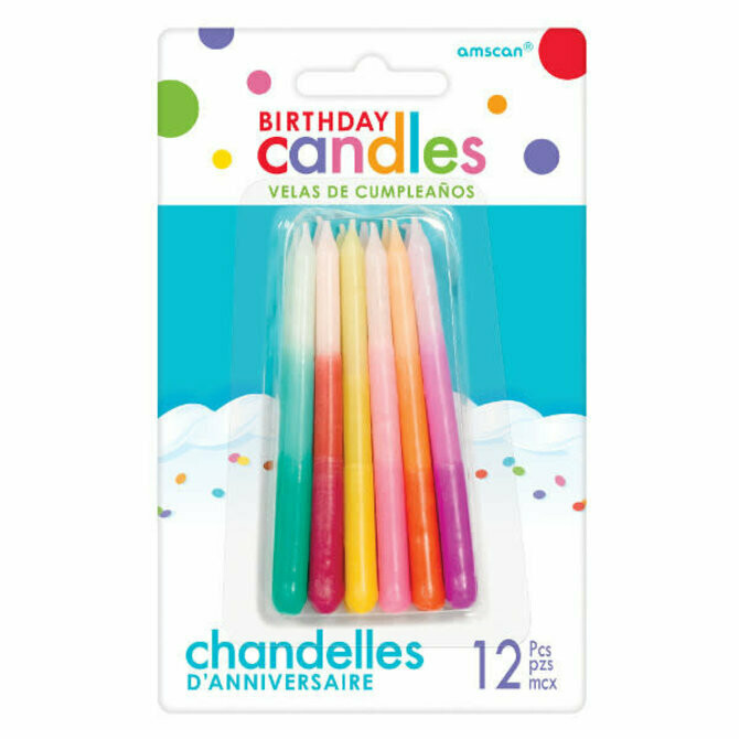 Birthday Candle Ombre 12ct