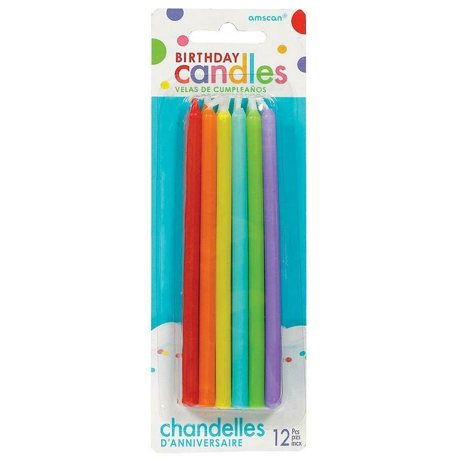 Birthday Candles Rainbow 12ct